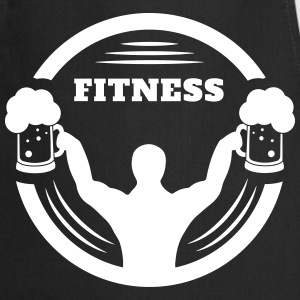 Body builder fitness with beer logo  Aprons - Cooking Apron