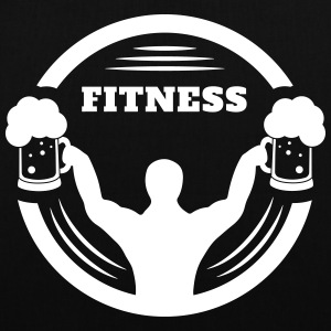 Body builder fitness with beer logo Bags & Backpacks - Tote Bag