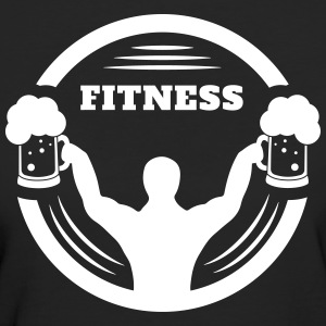 Body builder fitness with beer logo T-Shirts - Women's Organic T-shirt