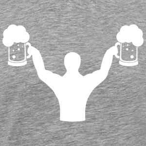 Body builder fitness with beer T-Shirts - Men's Premium T-Shirt