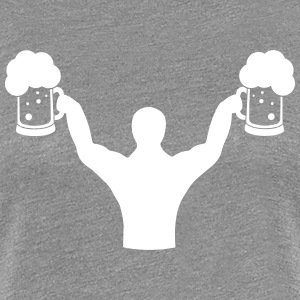 Body builder fitness with beer T-Shirts - Women's Premium T-Shirt