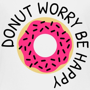 Donut worry be happy donut bekymre være glad T-shirts - Børne premium T-shirt