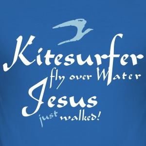 jesus_just_walked_vec_2de T-Shirts - Slim Fit T-shirt herr