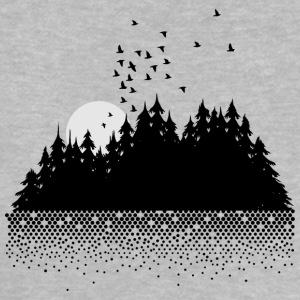 Forest, lake, moon and birds  Shirts - Baby T-Shirt