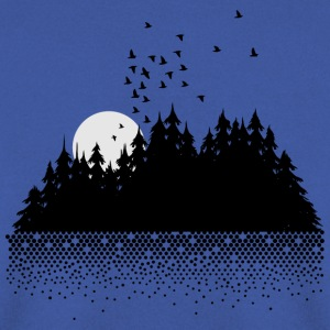 Forest, lake, moon and birds  Hoodies & Sweatshirts - Men's Sweatshirt
