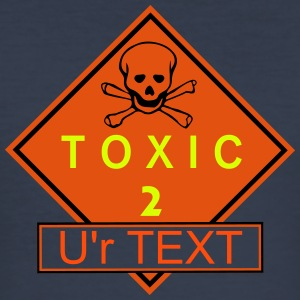 toxic_2_free_vec_3 en T-Shirts - Men's Slim Fit T-Shirt