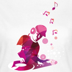 DJ mit Turntables. Disco T-Shirts - Frauen T-Shirt