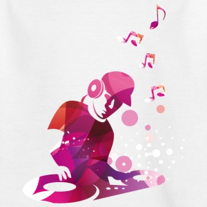 DJ mit Turntables. Disco T-Shirts - Kinder T-Shirt