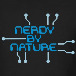 Nerdy by Nature blau - Männer Bio-T-Shirt