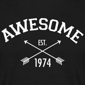 Awesome Est. 1974 T-shirts - Mannen T-shirt