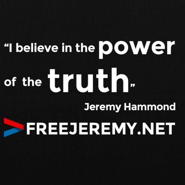 Jeremy Truth Quote Tote Bag