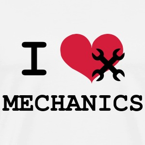 I Love Mechanics T-shirts - Premium-T-shirt herr