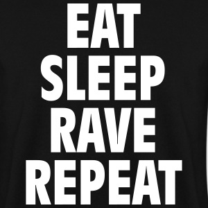 Eat sleep rave repeat Sweat-shirts - Sweat-shirt Homme
