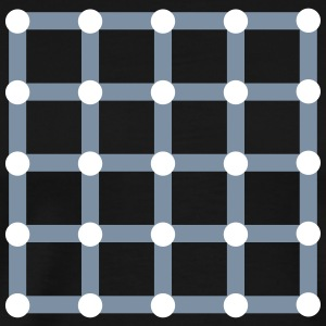 Optical illusion, Find the black dot! T-shirts - Mannen Premium T-shirt