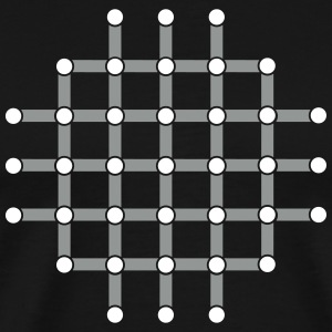 Optical illusion, Find the black dot! T-Shirts - Men's Premium T-Shirt