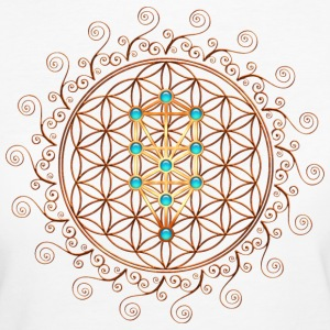 Flower of Life, Sephiroth, Kabbalah, Tree of Life  - Women's Organic T-shirt