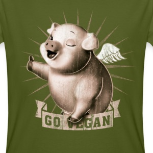 Moss green go vegan T-Shirts - Men's Organic T-shirt