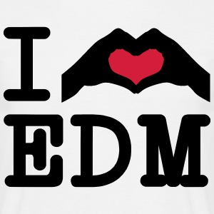 I Love EDM / Hand Heart T-shirts - Mannen T-shirt