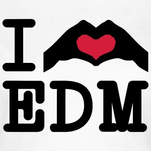 I Love EDM / Hand Heart T-shirts - Vrouwen T-shirt