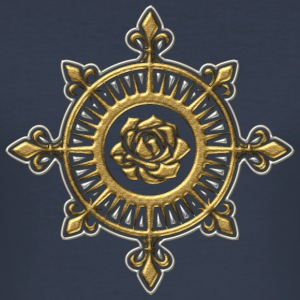 Wind rose, compass, Fleur de Lys, sailing, sailor T-skjorter - Slim Fit T-skjorte for menn