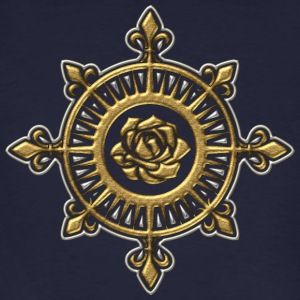 Wind rose, compass, Fleur de Lys, sailing, sailor T-Shirts - Men's Organic T-shirt