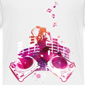 Concert with turntables, rap, electro, equalizer Shirts - Kids' Premium T-Shirt