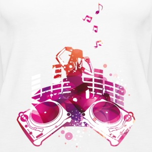 Concert with turntables, rap, electro, equalizer Tops - Women's Premium Tank Top