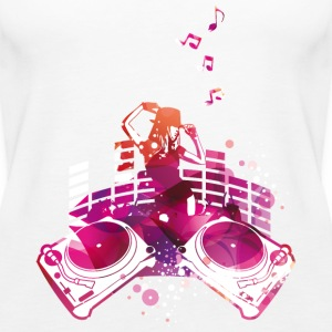 Konzert mit Turntables, Rap, Electro, Equalizer Tops - Frauen Premium Tank Top