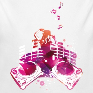 Concert with turntables, rap, electro, equalizer Hoodies - Longlseeve Baby Bodysuit