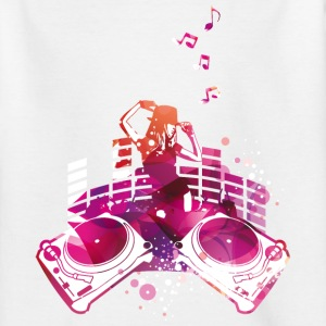 Concert with turntables, rap, electro, equalizer Shirts - Teenage T-shirt