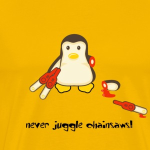 Penguin Chainsaws - Men's Premium T-Shirt