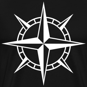Wind Rose Cross T-skjorter - Premium T-skjorte for menn