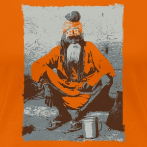 Indian holy man Sadhu - Women's Premium T-Shirt