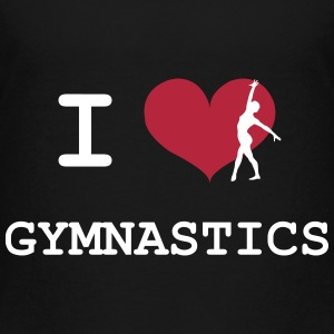 I Love Gymnastics T-Shirts - Teenager Premium T-Shirt