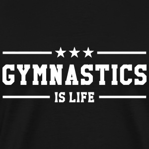 Gymnastics is life T-shirts - Herre premium T-shirt