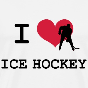 I Love Ice Hockey T-Shirts - Men's Premium T-Shirt