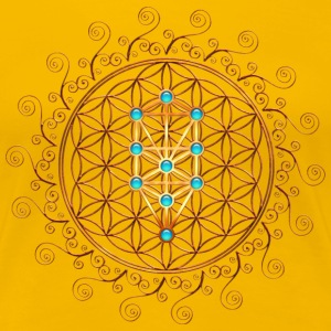 Flower of Life, Sephiroth, Kabbalah, Tree of Life T-shirts - Dame premium T-shirt