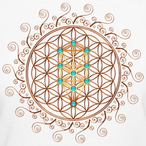 Flower of Life, Sephiroth, Kabbalah, Tree of Life T-shirts - Organic damer
