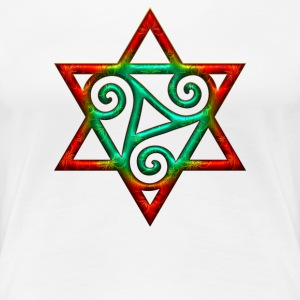 Triskele, hexagram, power of the Trinity, magic T-shirts - Dame premium T-shirt
