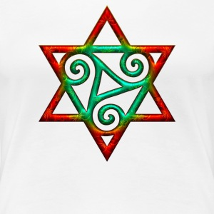 Triskele, hexagram, power of the Trinity, magic T-shirts - Vrouwen Premium T-shirt