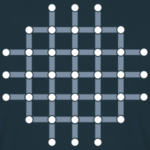 Optical illusion, Find the black dot! T-Shirts - Men's T-Shirt