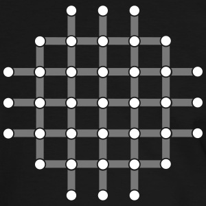 Optical illusion, Find the black dot! T-Shirts - Men's Ringer Shirt
