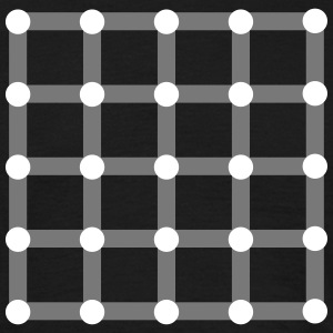 Optical illusion, Find the black dot! T-shirts - T-shirt herr