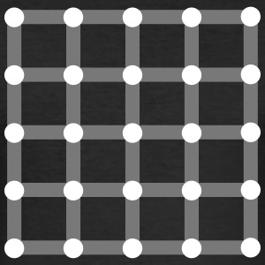 Optical illusion, Find the black dot! Magliette - Maglietta aderente da uomo
