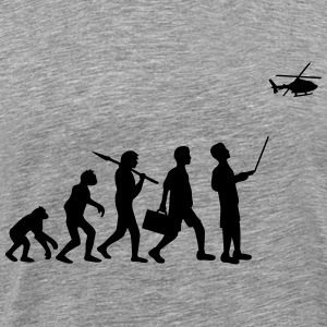 Evolution remote controlled model helicopter T-Shirts - Men's Premium T-Shirt