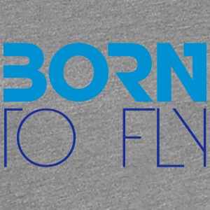 Born to Fly Heli Logo Design T-Shirts - Women's Premium T-Shirt