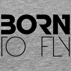 Born to Fly Heli Logo Design T-Shirts - Men's Premium T-Shirt
