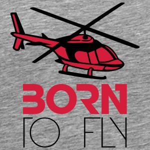 Born to Fly Heli Logo T-Shirts - Men's Premium T-Shirt