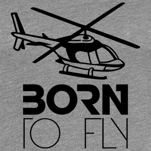 Born to Fly Heli Logo T-Shirts - Women's Premium T-Shirt