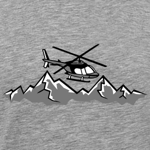 Mountain rescue plane emergency mountain rescue se T-Shirts - Men's Premium T-Shirt
